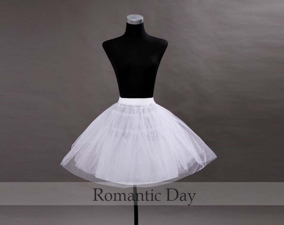 White tulle short wedding petticoat white wedding for Tulle petticoat for wedding dress